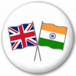 Great Britain and India Friendship Flag 25mm Pin Button Badge